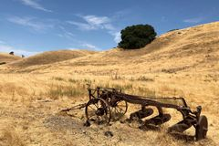 Zet Diablo State Park in Walnut Creek in Californië op royalty-vrije stock afbeelding