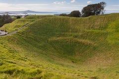 Zet Eden-krater in Auckland op Stock Afbeeldingen