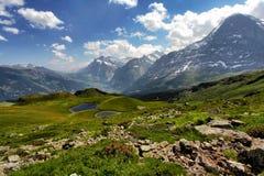 Zet Eiger Zwitserland op Stock Afbeelding