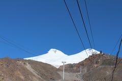 Zet Elbrus, de bergketen van de Kaukasus, Rusland op Stock Afbeeldingen