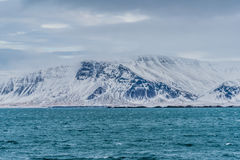Zet Esja, Reykjavik, IJsland in de winter op Royalty-vrije Stock Afbeeldingen