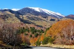 Zet Etna in de herfst op Stock Afbeelding