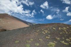Zet Etna landschap op Royalty-vrije Stock Afbeelding