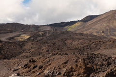 Zet Etna op. Sicilië. Stock Fotografie