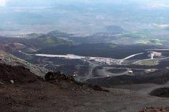 Zet Etna op. Sicilië. Stock Afbeeldingen