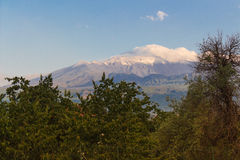 Zet Etna, Taormina, Sicilië, Italië op stock fotografie