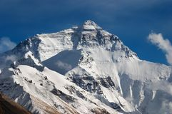 Zet Everest, het gezicht van het Noorden op Royalty-vrije Stock Foto