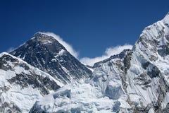 Zet Everest op die van Kala Patthar wordt bekeken Stock Foto