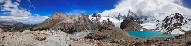 Zet Fitz Roy, Gr Chalten, Patagonië, Argentinië op Stock Foto's