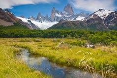 Zet Fitz Roy, Los Glaciares NP, Argentinië op Royalty-vrije Stock Foto