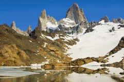 Zet Fitz Roy, Patagonië Argentinië op Royalty-vrije Stock Foto's