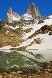 Zet Fitz Roy, Patagonië, Argentinië op Stock Foto's