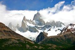 Zet fitz Roy in Patagonië Chili op Stock Fotografie
