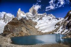 Zet Fitz Roy, Patagonië, Argentinië op Royalty-vrije Stock Foto's