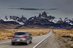 Zet Fitz Roy, Patagonië, Argentinië op Stock Fotografie