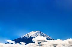 Zet Fuji - Fujiyama - Fujisan op stock afbeelding
