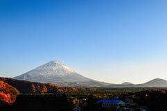 Zet Fuji in Japan op Royalty-vrije Stock Afbeeldingen