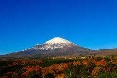 Zet Fuji, Japan op Stock Foto