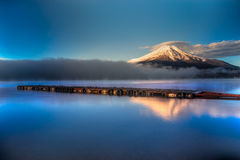 Zet Fuji, Japan op Royalty-vrije Stock Foto's