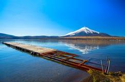 Zet Fuji, Japan op Stock Foto