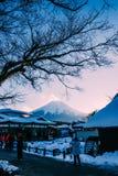 Zet Fuji Japan op Royalty-vrije Stock Fotografie