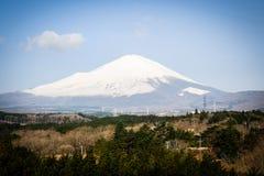 Zet Fuji van Japan op Royalty-vrije Stock Afbeeldingen