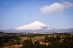 Zet Fuji van Japan op Royalty-vrije Stock Foto's