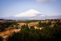 Zet Fuji van Japan op Royalty-vrije Stock Foto