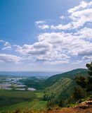 Zet Gilboa mening vanaf de bovenkant op, Israël Royalty-vrije Stock Foto