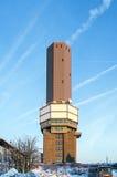Zet Grosser Feldberg, hoogste piek van op Duitse Taunus-mounta Royalty-vrije Stock Foto