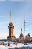 Zet Grosser Feldberg, hoogste piek van op Taunus-bergennea Stock Foto