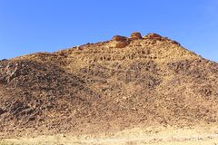 Zet in hart van Wadi Rum op stock foto