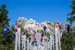 Zet het Nationale Gedenkteken van Rushmore, Zuid-Dakota, de V.S. op stock afbeelding