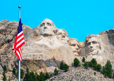 Zet het Nationale Herdenkingsbeeldhouwwerk van Rushmore op Royalty-vrije Stock Foto