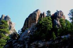 Zet het Nationale Herdenkingsrushmore zijaanzicht van Rushmore op royalty-vrije stock foto