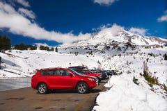 Zet Hood National Park op, brengt Timberline, Toneelweg, Oregon onder Stock Foto's