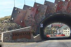 Zet Hotham-Dorp op Stock Afbeelding