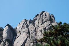 Zet Huangshan-landschap op Stock Foto