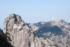 Zet Huangshan-landschap op Stock Fotografie