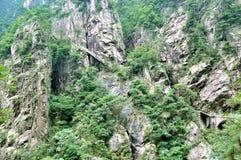 Zet Huangshan Xihai Grand Canyon, ongelooflijk China op stock foto