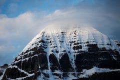 Zet Kailash Himalayas-yatra van waaiertibet Kailas op stock afbeeldingen