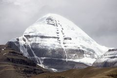 Zet Kailash in Tibet op Royalty-vrije Stock Afbeeldingen
