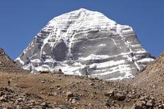 Zet Kailash in Tibet op stock foto's