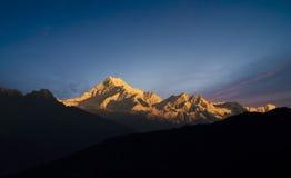 Zet Kanchenjunga op Royalty-vrije Stock Afbeeldingen