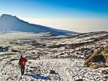 Zet Kilimanjaro op Stock Foto's