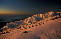 Zet Kilimanjaro op Royalty-vrije Stock Afbeelding