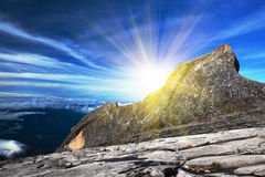 Zet Kinabalu op stock fotografie