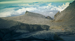 Zet Kinabalu op Stock Afbeelding