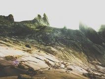 Zet Kinabalu op beklimmen Stock Afbeelding