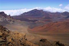 Zet Krater Haleakala op Royalty-vrije Stock Afbeeldingen